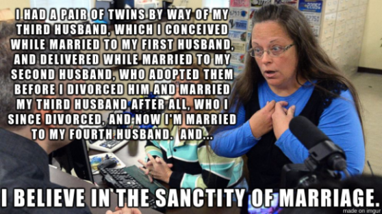 kim davis believing in the sanctity of marriage